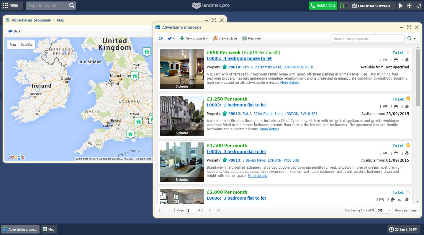 Lettings and Sales Software - Portal Upload